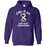 I Wear Purple For Epilepsy.. Customizable Hoodie
