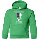 Not every disability is visible! Crohn's & Colitis Awareness KIDS Hoodie