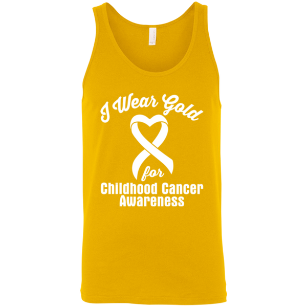 I Wear Gold! Childhood Cancer Awareness Tank Top