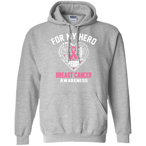 For My Hero! Breast Cancer Awareness Hoodie