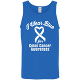I Wear Blue for Colon Cancer Awareness... Unisex Tank Top