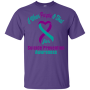 I Wear Purple   Teal   Suicide Prevention Awareness T shirt