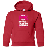 I Wear Pink for Breast Cancer Awareness! KIDS Hoodie