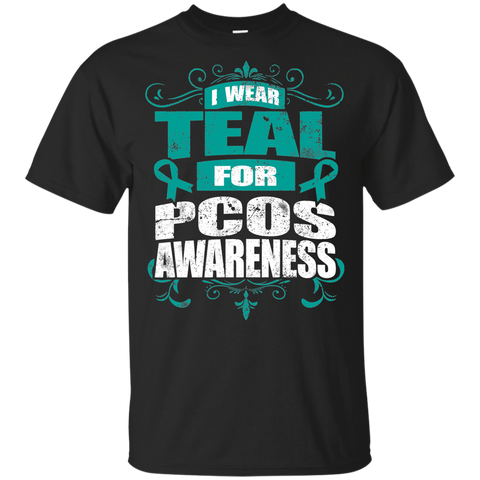 I Wear Teal for PCOS Awareness! KIDS t-shirt