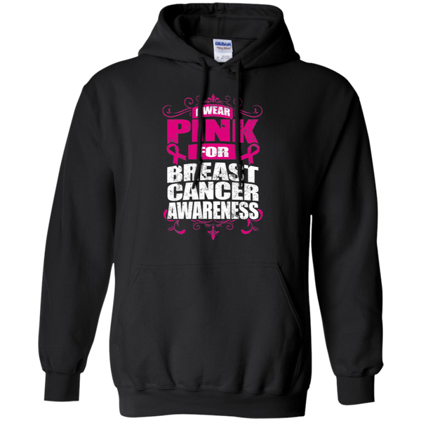 I Wear Pink for Breast Cancer Awareness! Hoodie