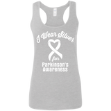 I Wear Silver for Parkinson's Awareness...  Racerback Tank