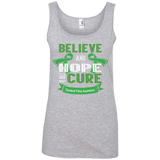 Ladies Cotton Tank Top - Believe & Hope for a cure....