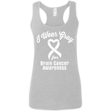 I Wear Gray for Brain Cancer Awareness...  Racerback Tank
