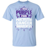 I Wear Purple for Pancreatic Cancer Awareness! KIDS t-shirt