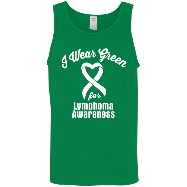 I Wear Green for Lymphoma Awareness... Unisex Tank-Top