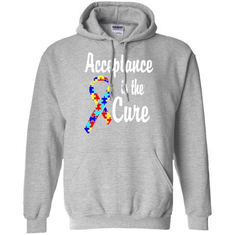 Acceptance is the Cure! Autism Awareness Hoodie