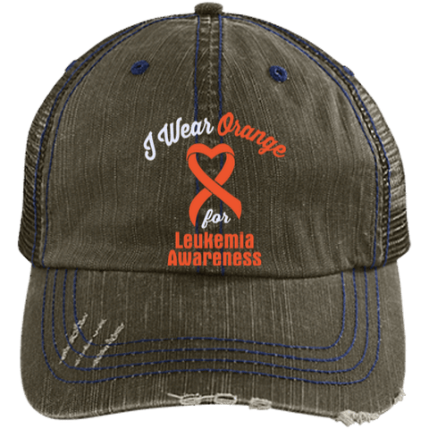 Leukemia - Distressed Trucker Cap