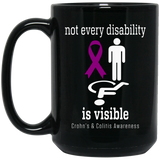 Not every disability is visible! Crohn's & Colitis Awareness Mug