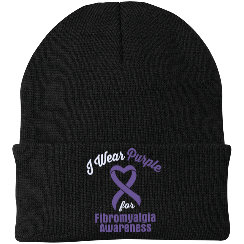 Fibromyalgia - One Size Fits Most Knit Cap