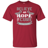 Believe and hope for a cure! Brain Cancer Awareness T-Shirt