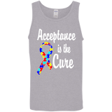 Acceptance is the Cure - Autism Awareness Unisex Tank Top