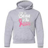 Believe in the cure Breast Cancer Awareness Kids Hoodie