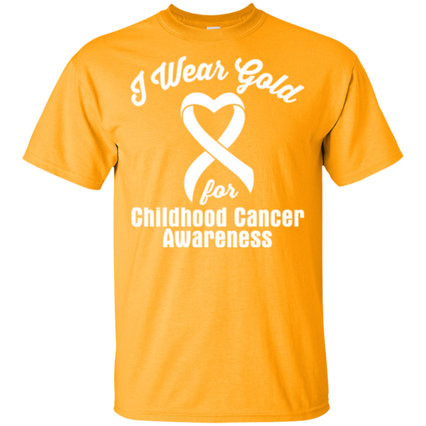 I Wear Gold! Childhood Cancer Awareness T-shirt