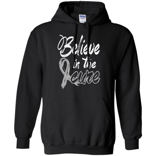 Believe in the cure! Brain Cancer Awareness Hoodie