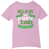 Infant 5.5 oz Short Sleeve T-shirt - Believe & Hope for a cure....