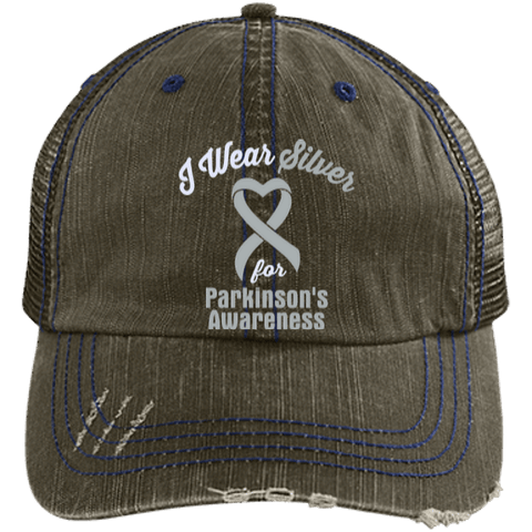 Parkinson's - Distressed Trucker Cap