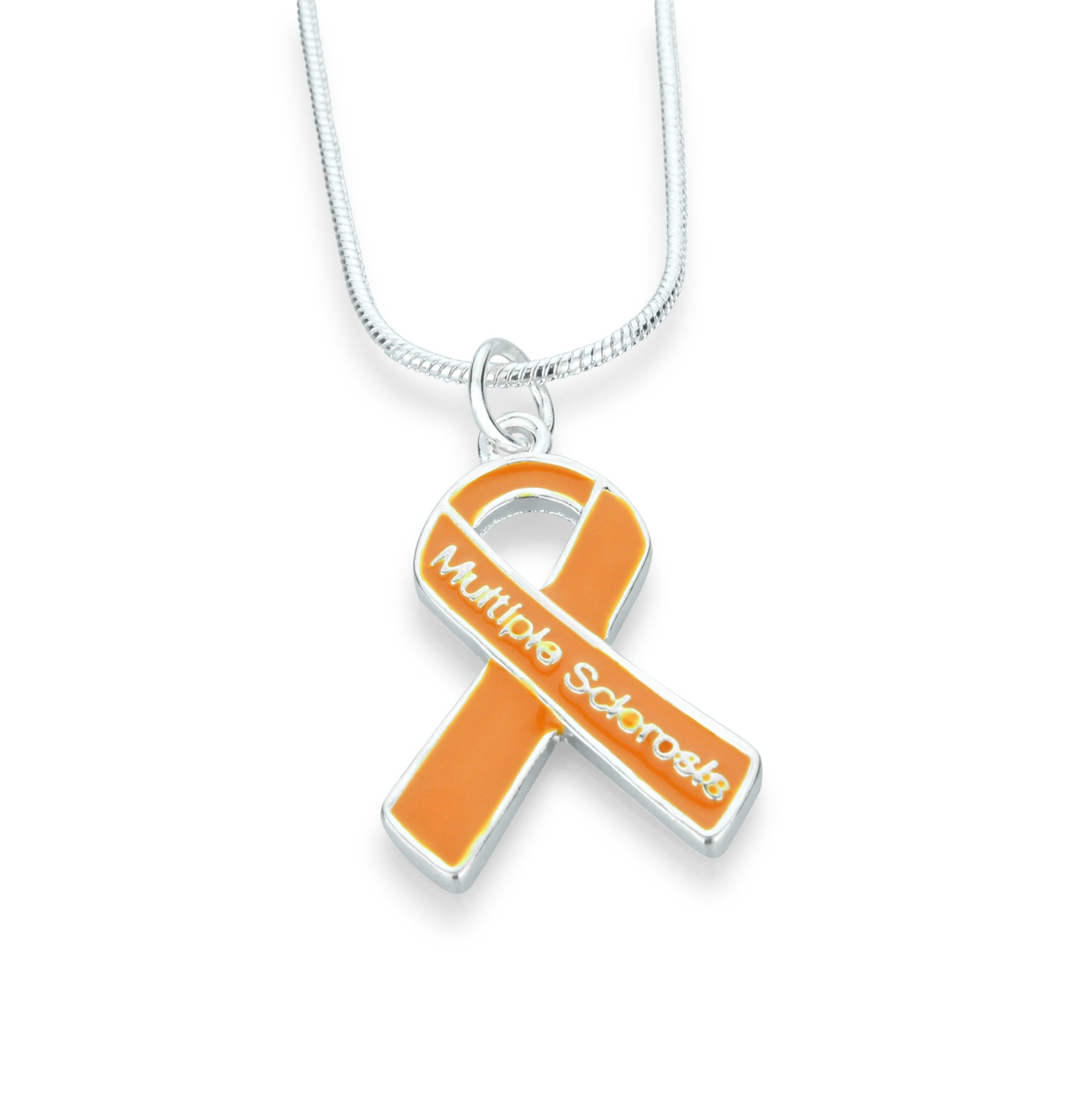 Multiple sclerosis ribbon necklace the awareness store multiple sclerosis ribbon necklace buycottarizona