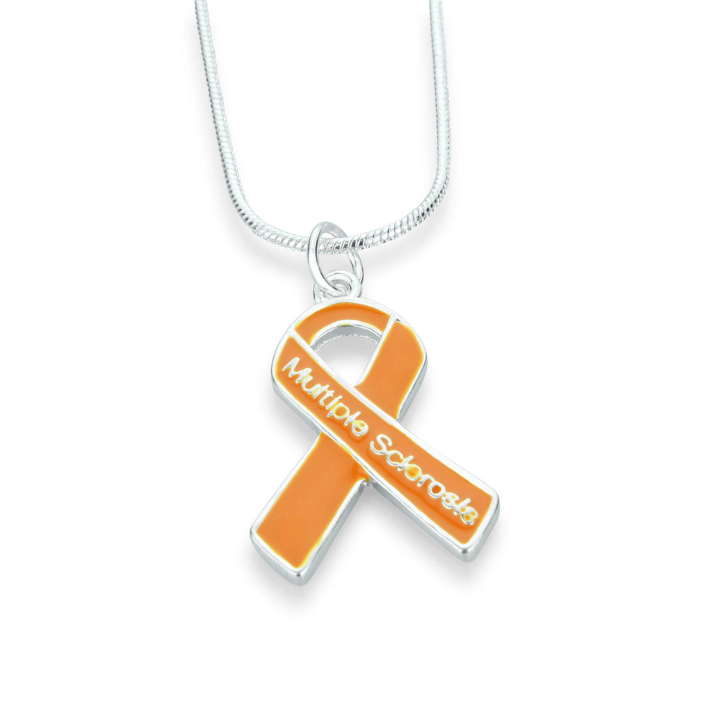 Multiple Sclerosis Ribbon Necklace