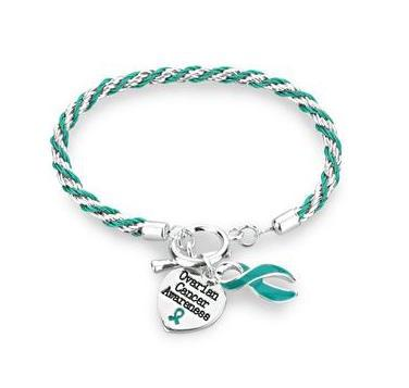 Ovarian Cancer Heart Charm Bracelet
