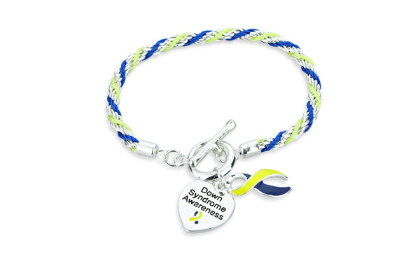 Down Syndrome Heart Charm Bracelet