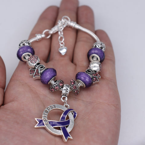 Epilepsy Awareness Luxury Charm Bracelet