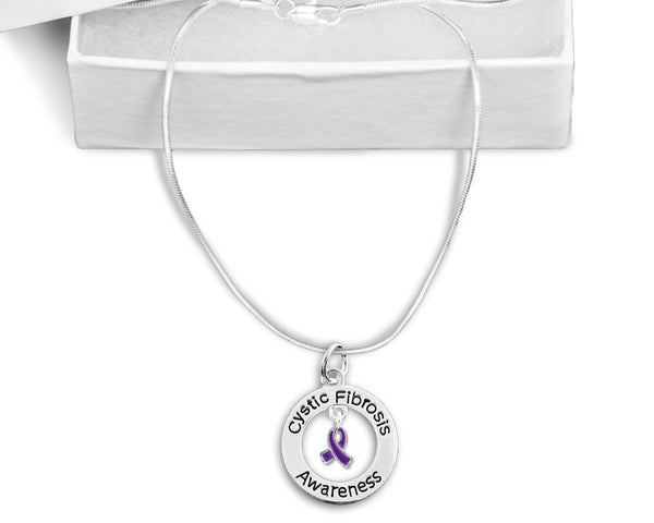 Cystic Fibrosis Awareness Floating Necklace