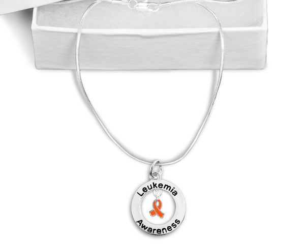 Leukemia Awareness Floating Necklace