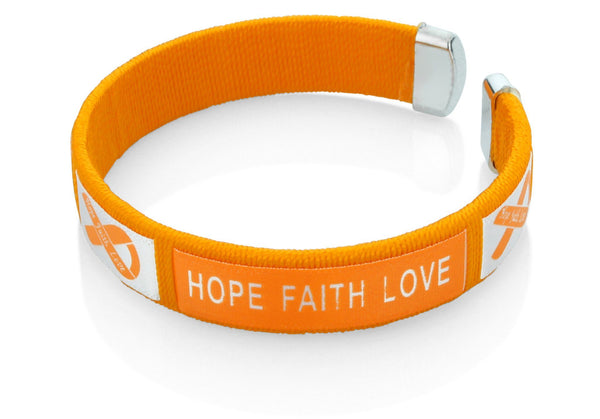 Multiple Sclerosis Hope Faith Love Bangle Bracelet