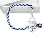 Colon Cancer Heart Charm Bracelet