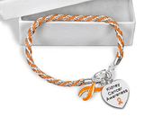 Kidney Cancer Heart Charm Bracelet