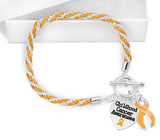 Childhood Cancer Heart Charm Bracelet