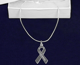 Diabetes Awareness Ribbon Necklace