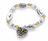 Hope Strength Courage Leukemia Awareness Bracelet