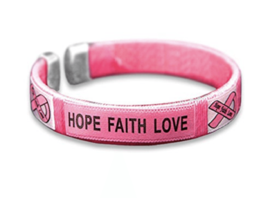 5 Pack Breast Cancer Awareness Bangles