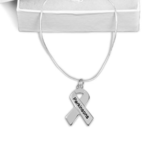 Parkinson's Awareness Ribbon Necklace