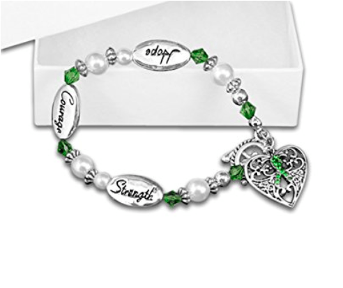 Hope Strength Courage Cerebral Palsy Awareness Bracelet