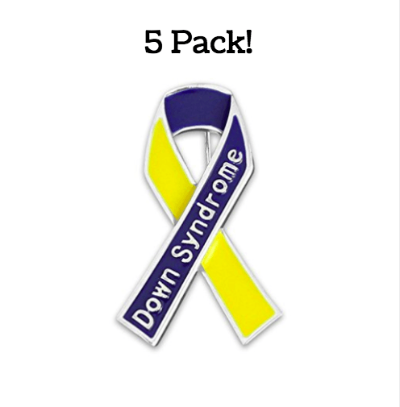 5 Pack Down Syndrome Awareness Pins