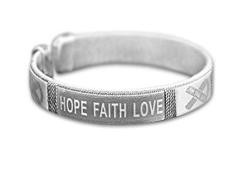 Hope Faith Love Brain Cancer Awareness Bangle