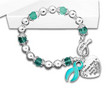 Where there is Love - Ovarian Cancer Awareness Bracelet