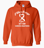 I Wear Orange For Leukemia.. Customizable Hoodie