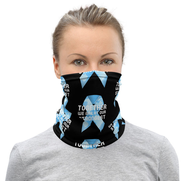 Stomach Cancer Awareness Together We Are at Our Strongest Face Mask / Neck Gaiter