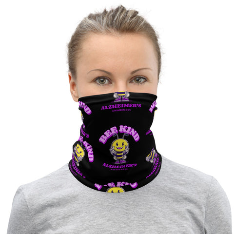 Alzheimer's Awareness Bee Kind Face Mask / Neck Gaiter