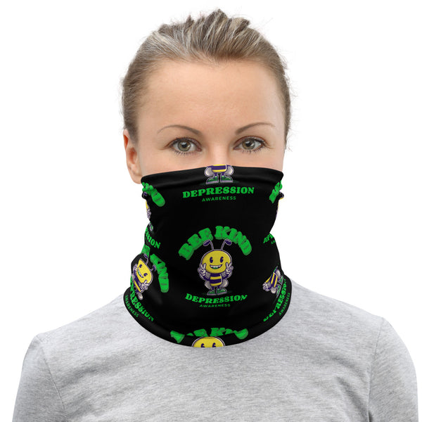 Depression Awareness Bee Kind Face Mask / Neck Gaiter