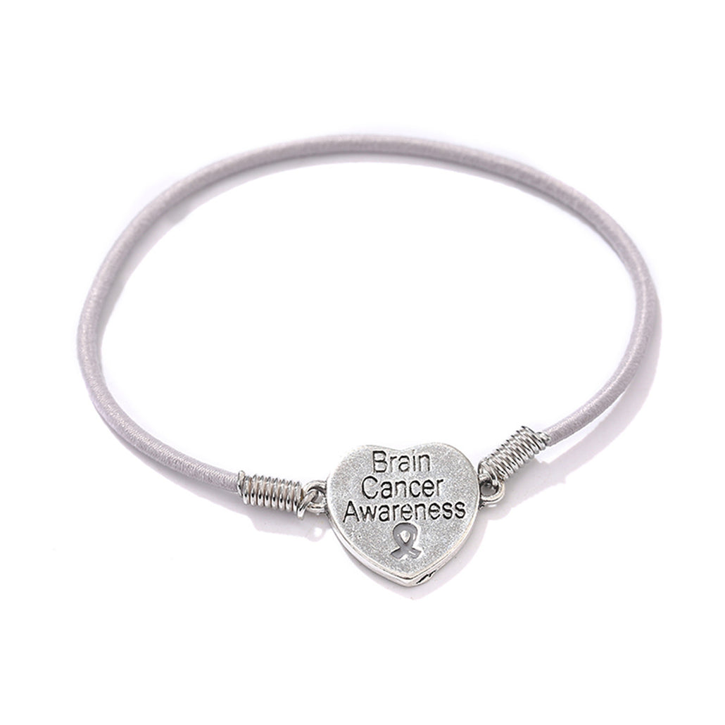 Brain Cancer Awareness Stretch Bracelet