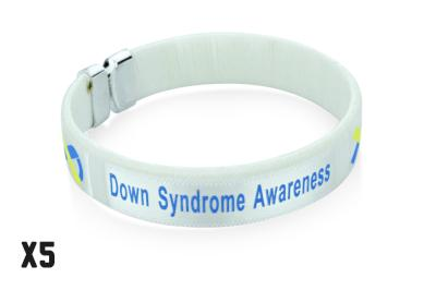 5 Pack Down Syndrome Bangles